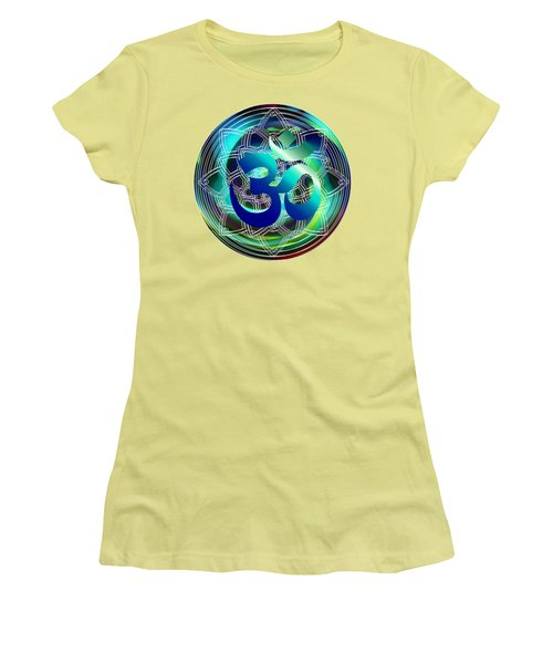 Om Vibration Ocean Women's T-Shirt (Athletic Fit)