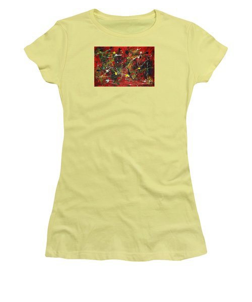 Women's T-Shirt (Junior Cut) featuring the painting On A High Note by Jacqueline Athmann