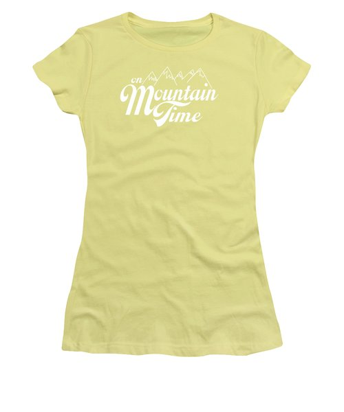 Women's T-Shirt (Junior Cut) featuring the photograph On Mountain Time by Heather Applegate