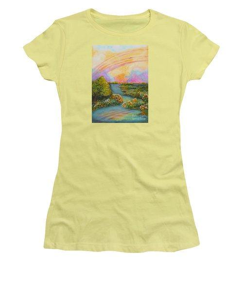 On My Way Women's T-Shirt (Junior Cut) by Holly Carmichael