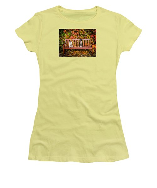 On The Bench Women's T-Shirt (Athletic Fit)