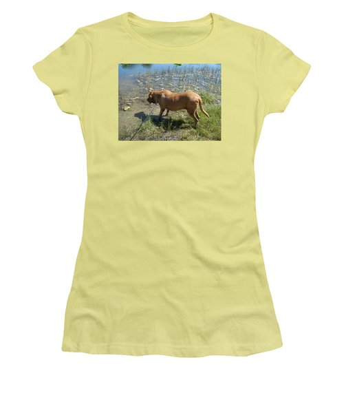 On The Hunt Women's T-Shirt (Junior Cut) by Val Oconnor