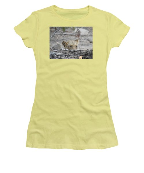 Women's T-Shirt (Junior Cut) featuring the photograph On The Lookout by Betty-Anne McDonald