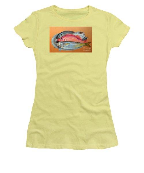 On The Platter Women's T-Shirt (Junior Cut) by Jasna Dragun