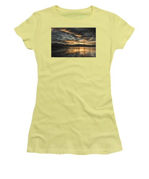 On The Wings Of The Night Women's T-Shirt (Junior Cut) by Mitch Shindelbower