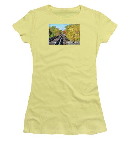 Women's T-Shirt (Junior Cut) featuring the photograph On To Fall by Glenn Gordon