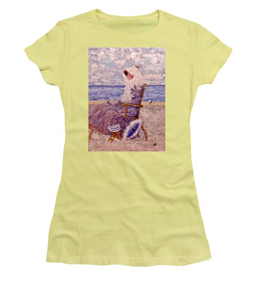Women's T-Shirt (Junior Cut) featuring the painting Once Upon A Time II by Cristina Mihailescu