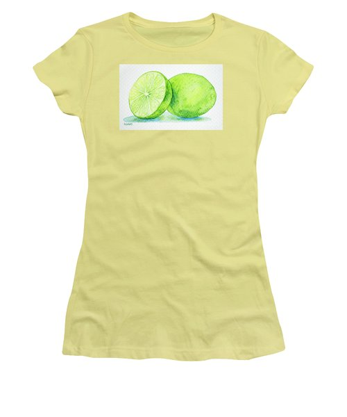 One And A Half Limes Women's T-Shirt (Junior Cut) by Rebecca Davis