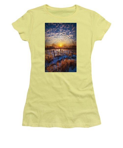 One Day At A Time Women's T-Shirt (Junior Cut) by Phil Koch