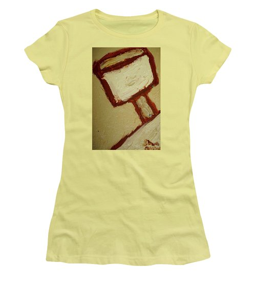 Women's T-Shirt (Junior Cut) featuring the painting One Lamp by Shea Holliman