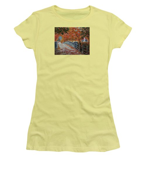 One Lane Bridge Women's T-Shirt (Athletic Fit)