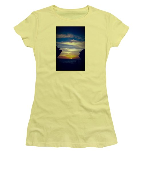 Women's T-Shirt (Junior Cut) featuring the photograph One Last Glimpse by DigiArt Diaries by Vicky B Fuller