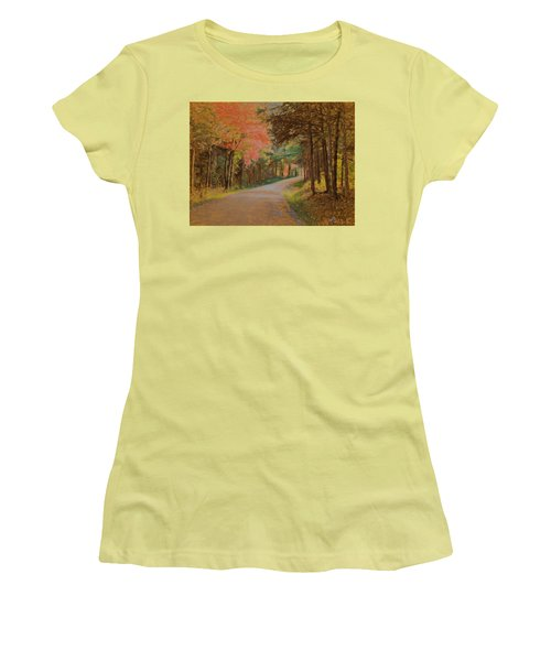 One More Country Road Women's T-Shirt (Junior Cut) by John Selmer Sr