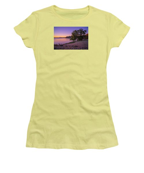 One Morning At The Lake Women's T-Shirt (Junior Cut) by Ken Stanback