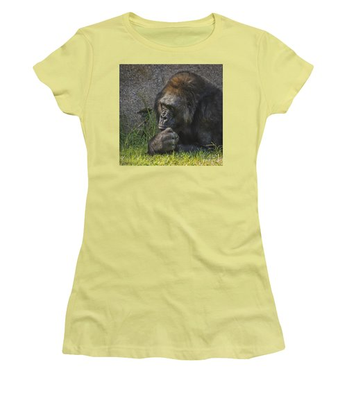 Women's T-Shirt (Junior Cut) featuring the photograph One Of These Days Alice by Mitch Shindelbower