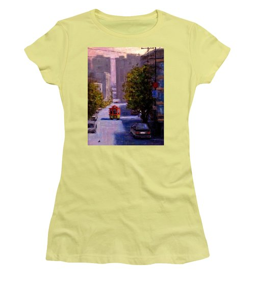 One Quiet Afternoon In San Francisco.. Women's T-Shirt (Junior Cut) by Cristina Mihailescu
