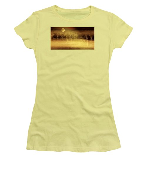 Only At Night Women's T-Shirt (Junior Cut) by Holly Kempe