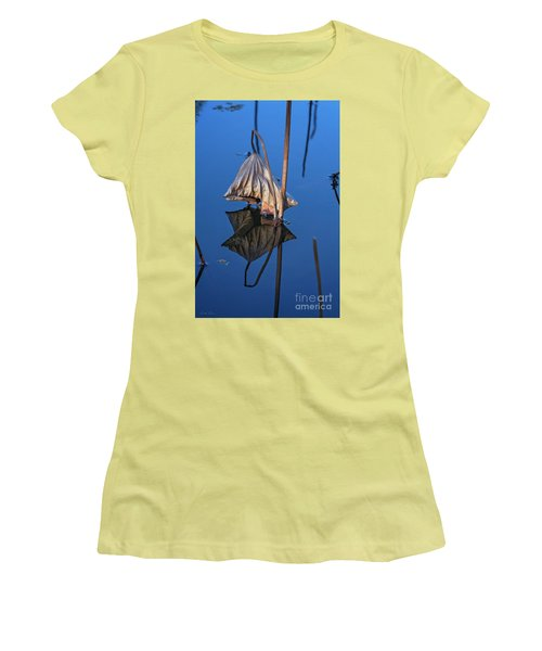 Women's T-Shirt (Athletic Fit) featuring the photograph Only In Still Water by Linda Lees