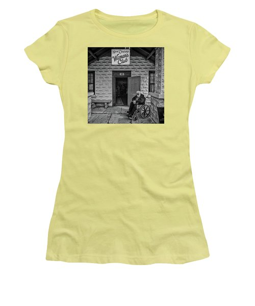 Women's T-Shirt (Athletic Fit) featuring the photograph Only The Lonely by Lewis Mann