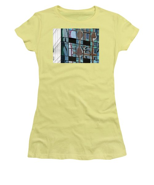 Op Art Windows I Women's T-Shirt (Junior Cut) by Marianne Campolongo