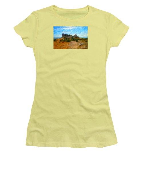 Opoul Castle Ruins II Women's T-Shirt (Junior Cut)