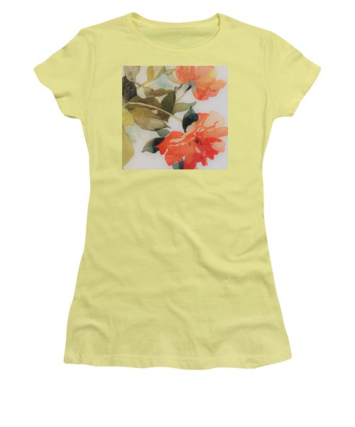 Women's T-Shirt (Junior Cut) featuring the painting Orange Blossom Special by Elizabeth Carr