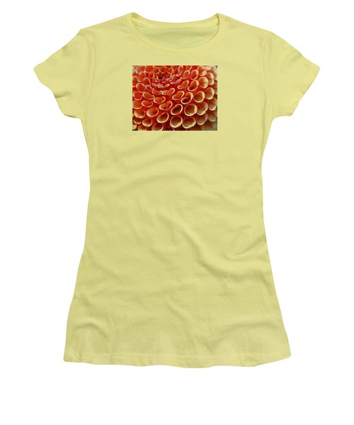 Orange Dahlia Crush Women's T-Shirt (Athletic Fit)