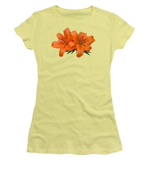 Orange Lily Women's T-Shirt (Junior Cut) by Jane McIlroy