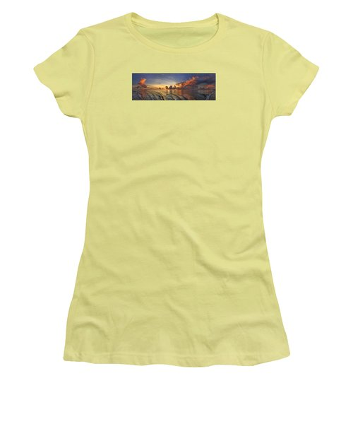Orange Panorama Women's T-Shirt (Athletic Fit)