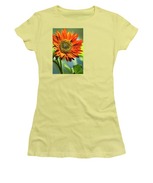 Orange Sunflower Women's T-Shirt (Athletic Fit)