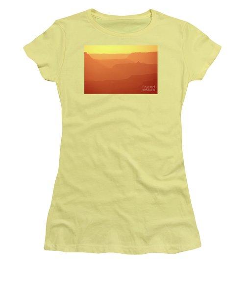 Orange Sunset At Grand Canyon Women's T-Shirt (Junior Cut) by RicardMN Photography