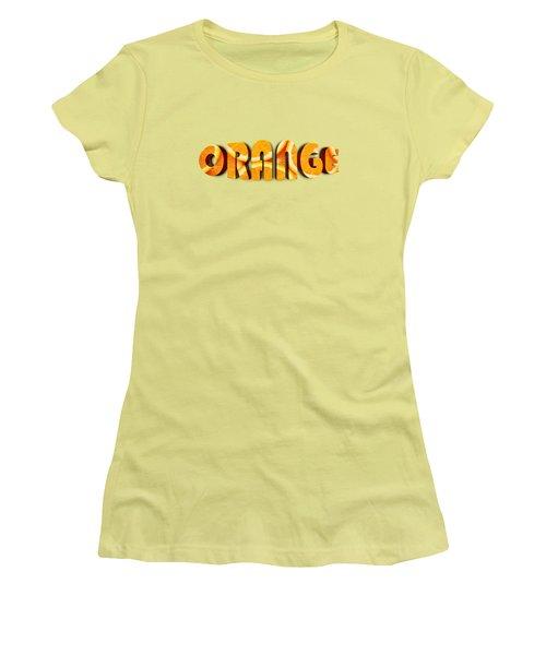 Orange Text Women's T-Shirt (Athletic Fit)