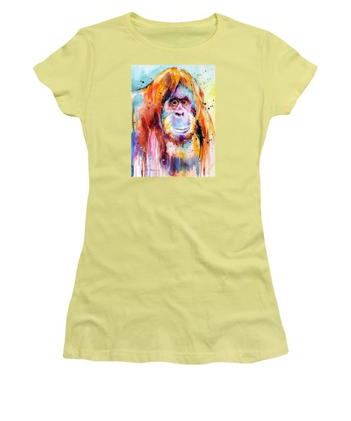 Orangutan  Women's T-Shirt (Junior Cut) by Slavi Aladjova