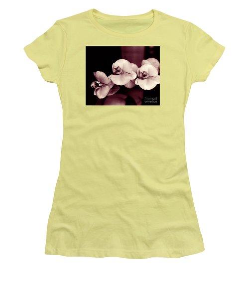 Women's T-Shirt (Junior Cut) featuring the photograph Orchids Hawaii by Mukta Gupta