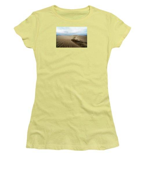 Women's T-Shirt (Junior Cut) featuring the photograph Oregon Dune Wasteland 1 by Ryan Manuel