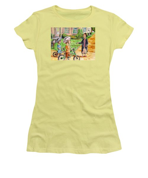 Oreo And Braun Women's T-Shirt (Athletic Fit)
