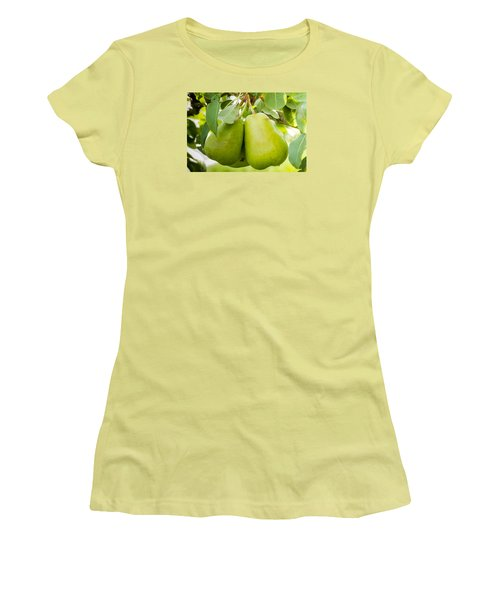 Organic Pears Women's T-Shirt (Athletic Fit)