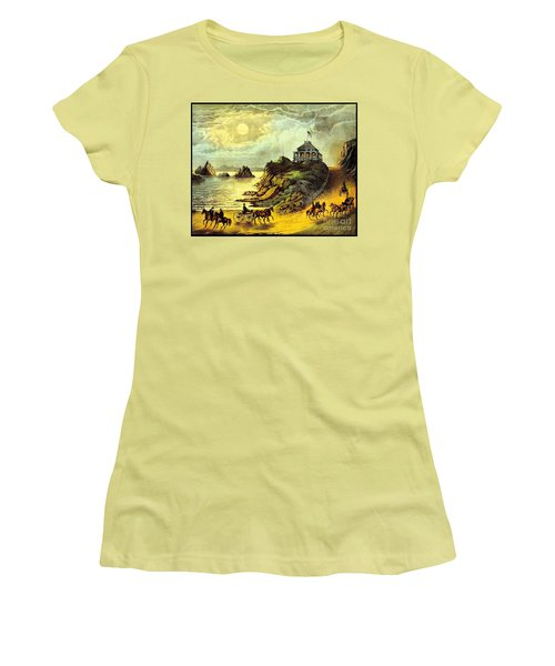 Original San Francisco Cliff House Circa 1865 Women's T-Shirt (Athletic Fit)