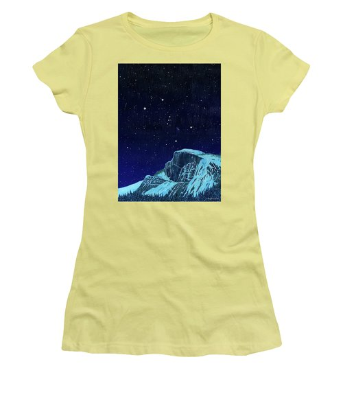 Orion Over Yosemite Women's T-Shirt (Athletic Fit)