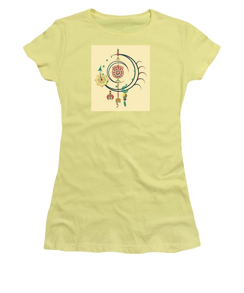 Women's T-Shirt (Junior Cut) featuring the drawing Ornament Variation Three by Deborah Smith