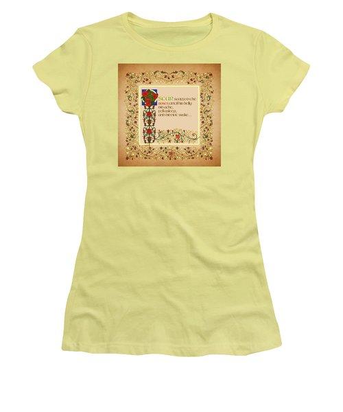Women's T-Shirt (Junior Cut) featuring the digital art Oscar Alternative Ending by Donna Huntriss