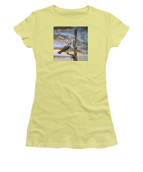 Women's T-Shirt (Junior Cut) featuring the photograph Osprey With Supper by Brian Tarr
