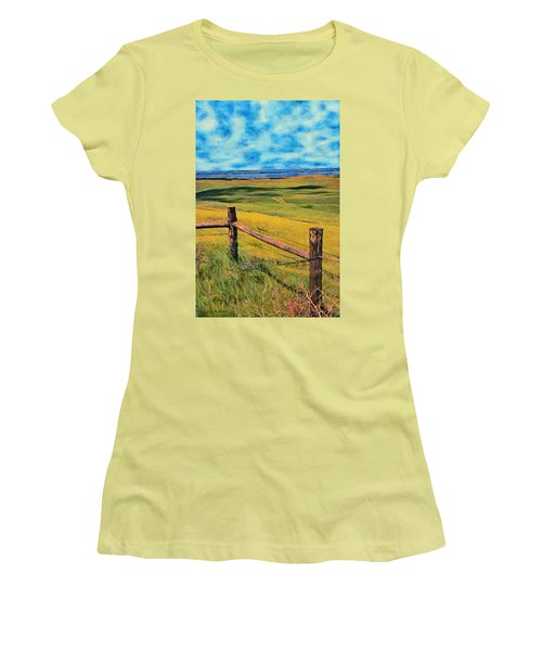 Other Side Of The Fence Women's T-Shirt (Junior Cut) by Jeff Kolker