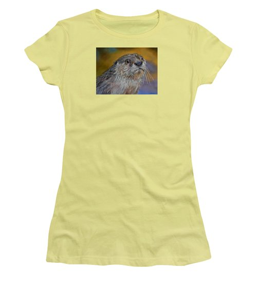 Otter Or Not Women's T-Shirt (Junior Cut) by Ceci Watson