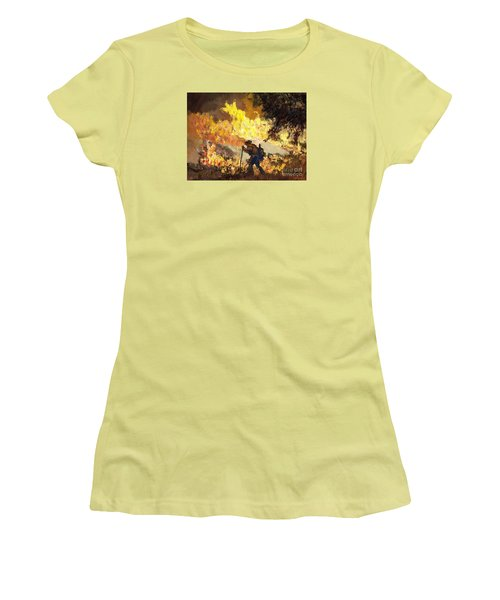 Our Heroes Tonight Women's T-Shirt (Junior Cut) by Randy Sprout