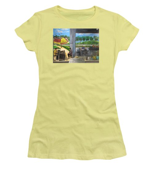 Our Home, Our Community Women's T-Shirt (Junior Cut) by Belinda Low