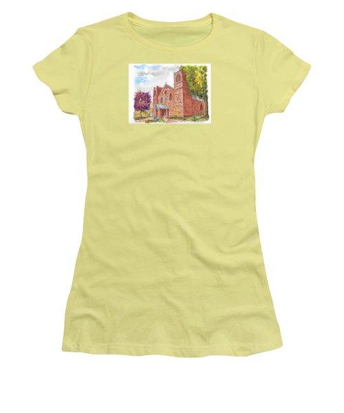 Our Lady Of Sorrow Catholic Church, Las Vegas, New Mexico Women's T-Shirt (Junior Cut) by Carlos G Groppa