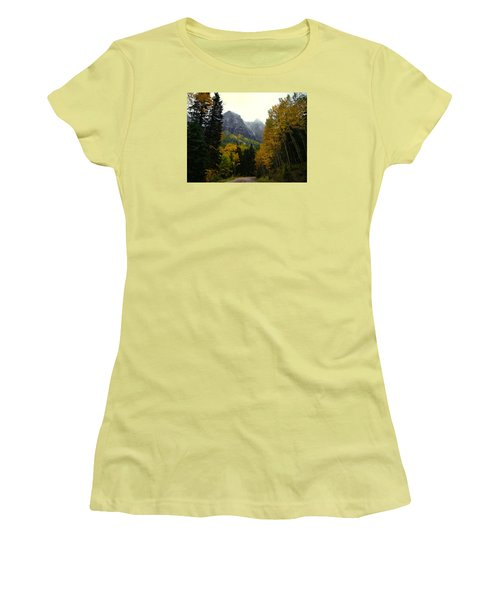 Women's T-Shirt (Junior Cut) featuring the photograph Ouray Side Trip by Laura Ragland