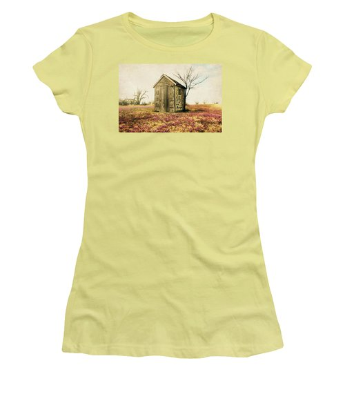 Women's T-Shirt (Junior Cut) featuring the photograph Outhouse by Julie Hamilton