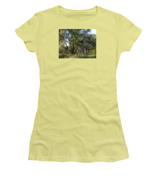 Women's T-Shirt (Junior Cut) featuring the photograph Out In The Back 40 by JRP Photography
